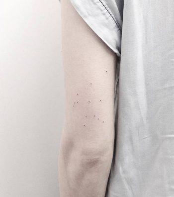 Dotted Aquarius constellation tattoo