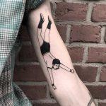 Falling man tattoo