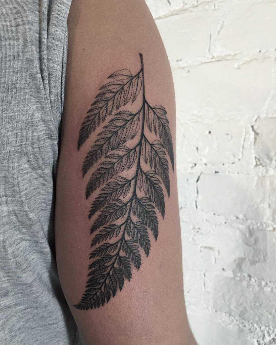 Fern leaf by Sasha Tattooing