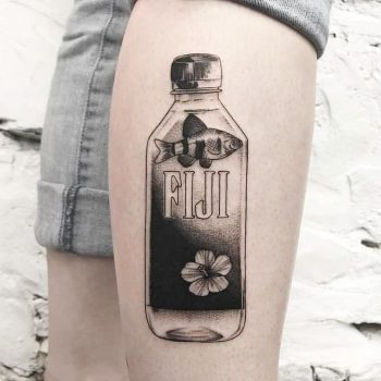 Fiji water by Ink And Water Tattoo