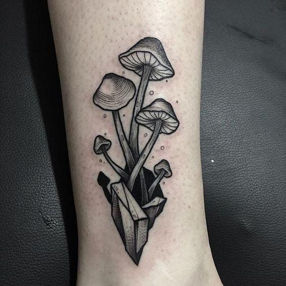 Five mushrooms tattoo