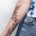 Flower tattoo by Marlon B