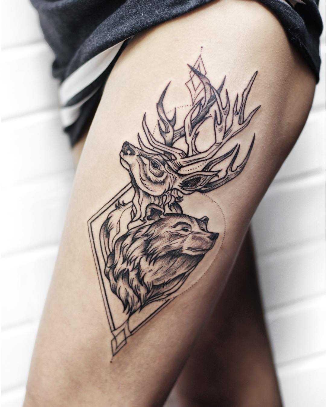 Forest inhabitants tattoo