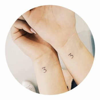 Friendship tattoos on wrists