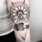 Garden landscape and mandala tattoo