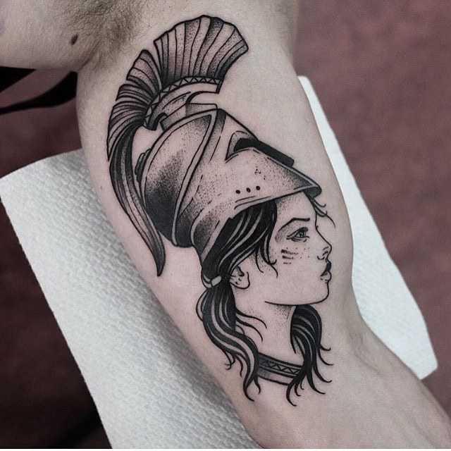 Girl with a helmet by Jonas Ribeiro