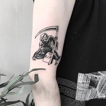 Grim reaper tattoo by Mr. Preston Tattoo