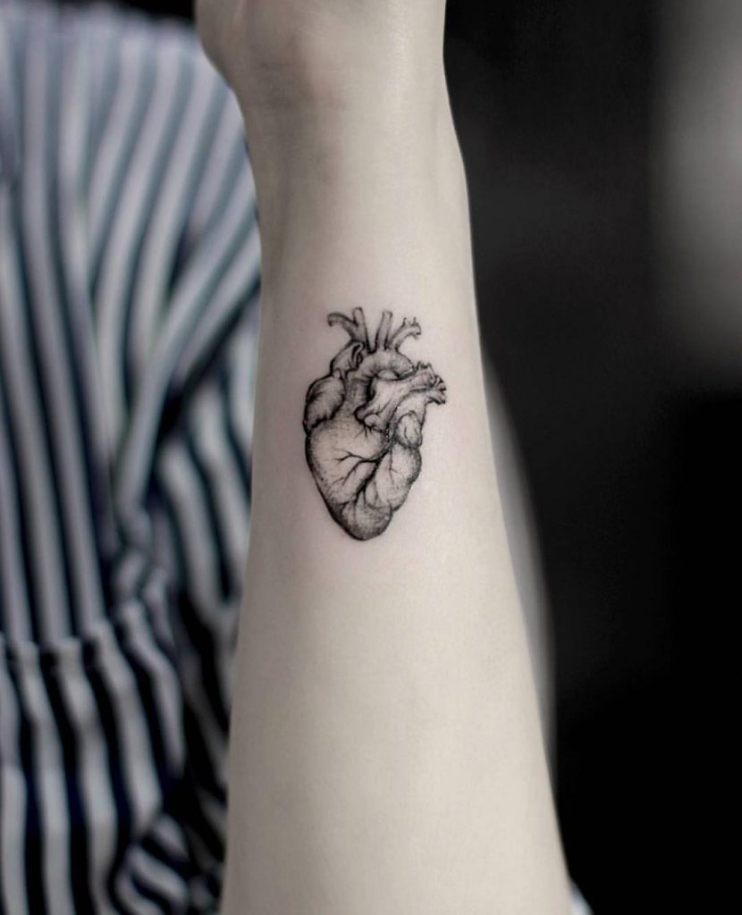 Heart by Stella TX tattoo
