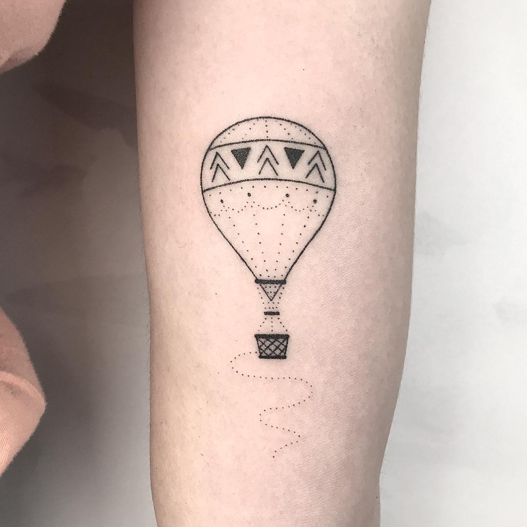 Hot air balloon by Femme Fatale Tattoo