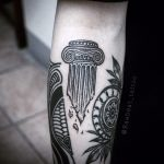 Ionic column tattoo