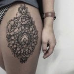 Mandala and flowers by Sasha Tattooing