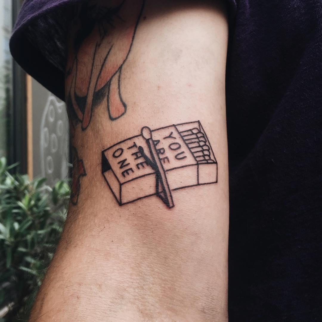 Matchbox tattoo