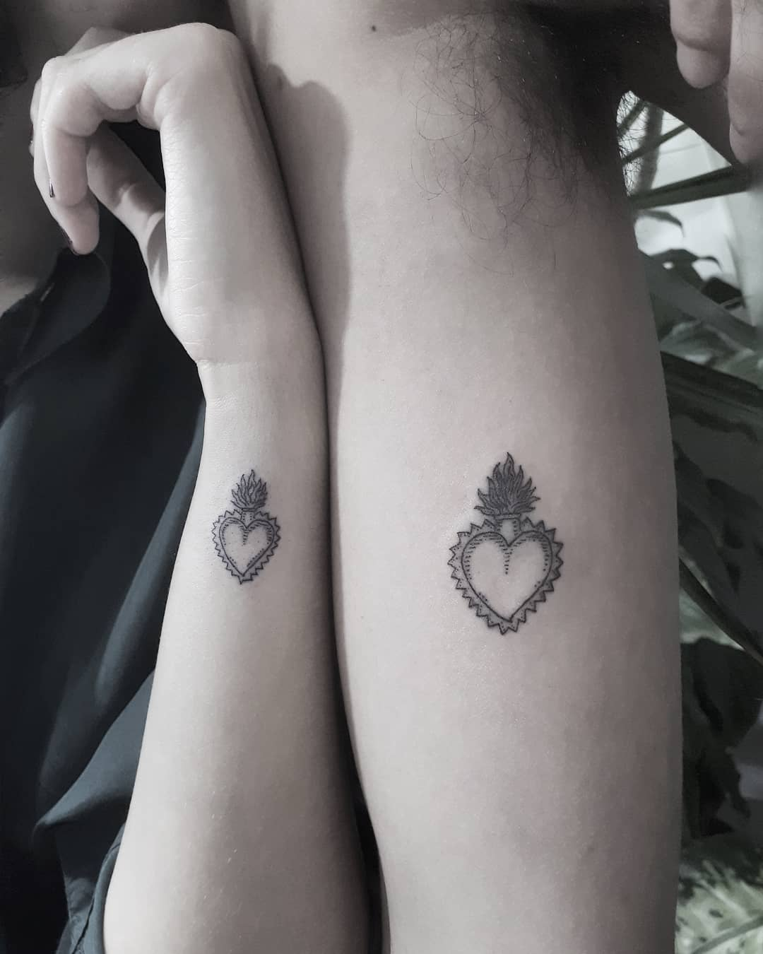 Matching hearts for a couple