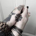 Matching little mandala tattoo