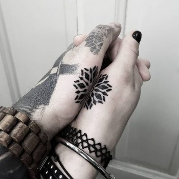 Matching little mandala tattoo