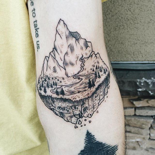 Mountain tattoo by Pony Reinhardt