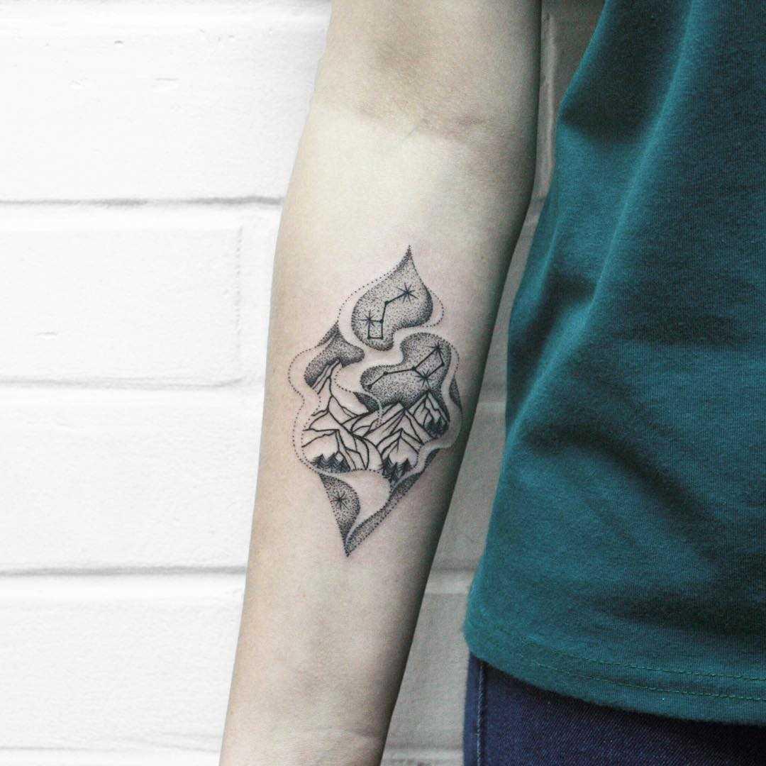 Oregon mountains tattoo