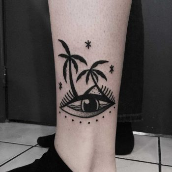 Paradise eye tattoo