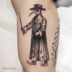 Plague doctor tattoo by tattooist Monkey Bob