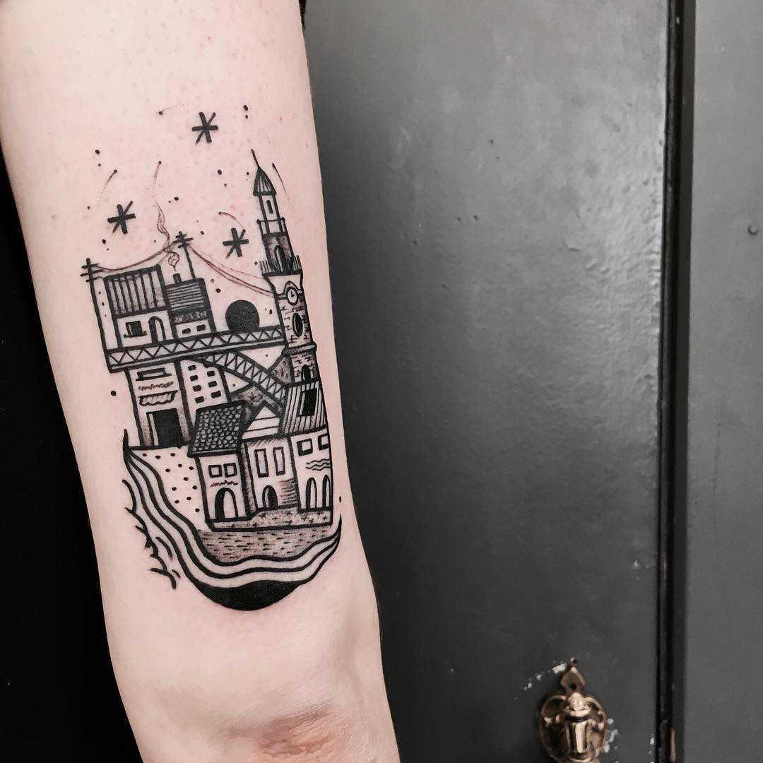 Porto city tattoo