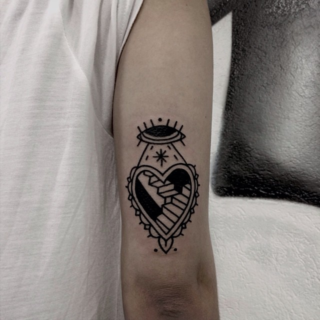 Road to the space tattoo