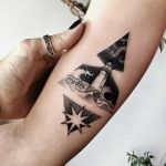 Rocket lift off tattoo by Sasha Kiseleva