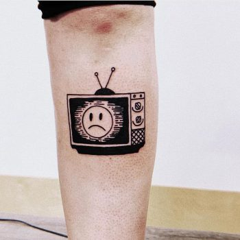 Sad TV tattoo