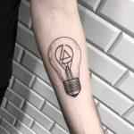 Simple bulb tattoo