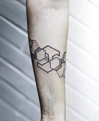 Simple hexagon tattoos