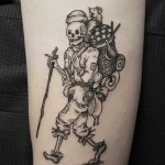 Skeleton traveler tattoo
