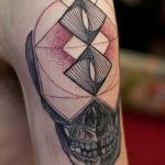 Skull geometry tattoo