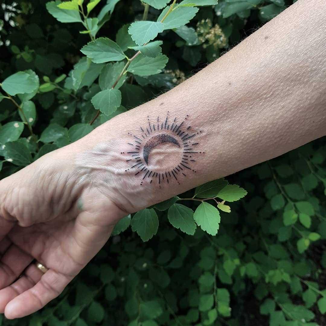 Sun and moon on the wrist