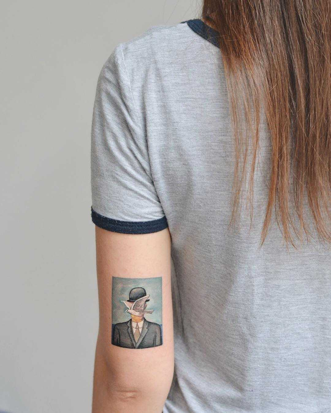 The Son of Man by René Magritte tattoo