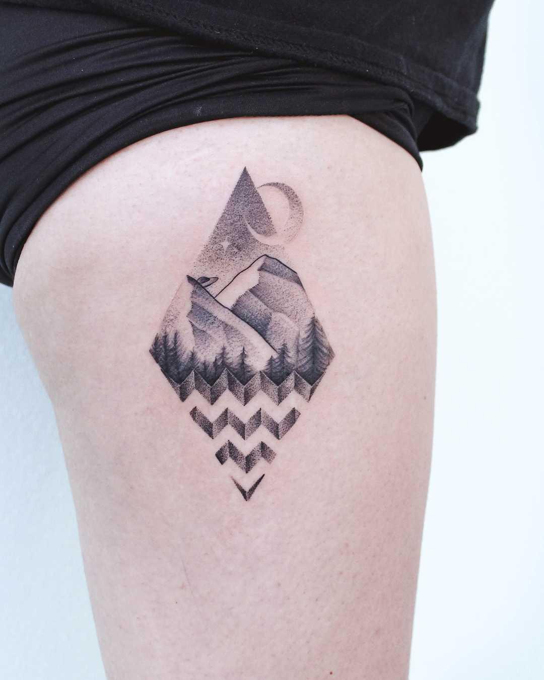 Twin Peaks-inspired tattoo