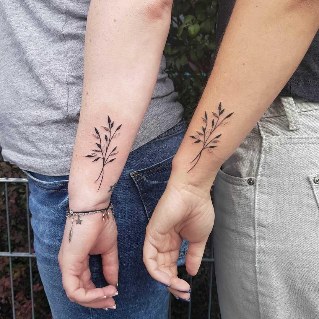 Twins birthday mark tattoo