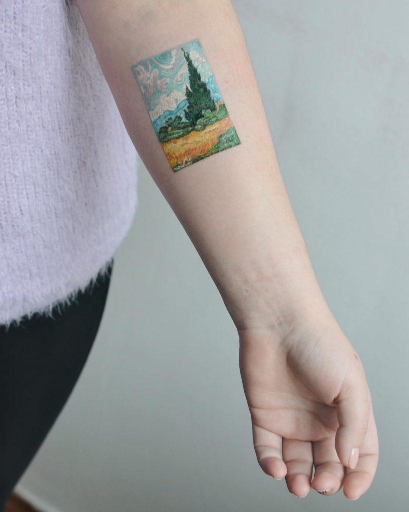 Van Gogh's painting tattoo