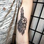 Wheat bundle tattoo by Johno Tattooer