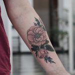 Wild roses and juniper tattoo