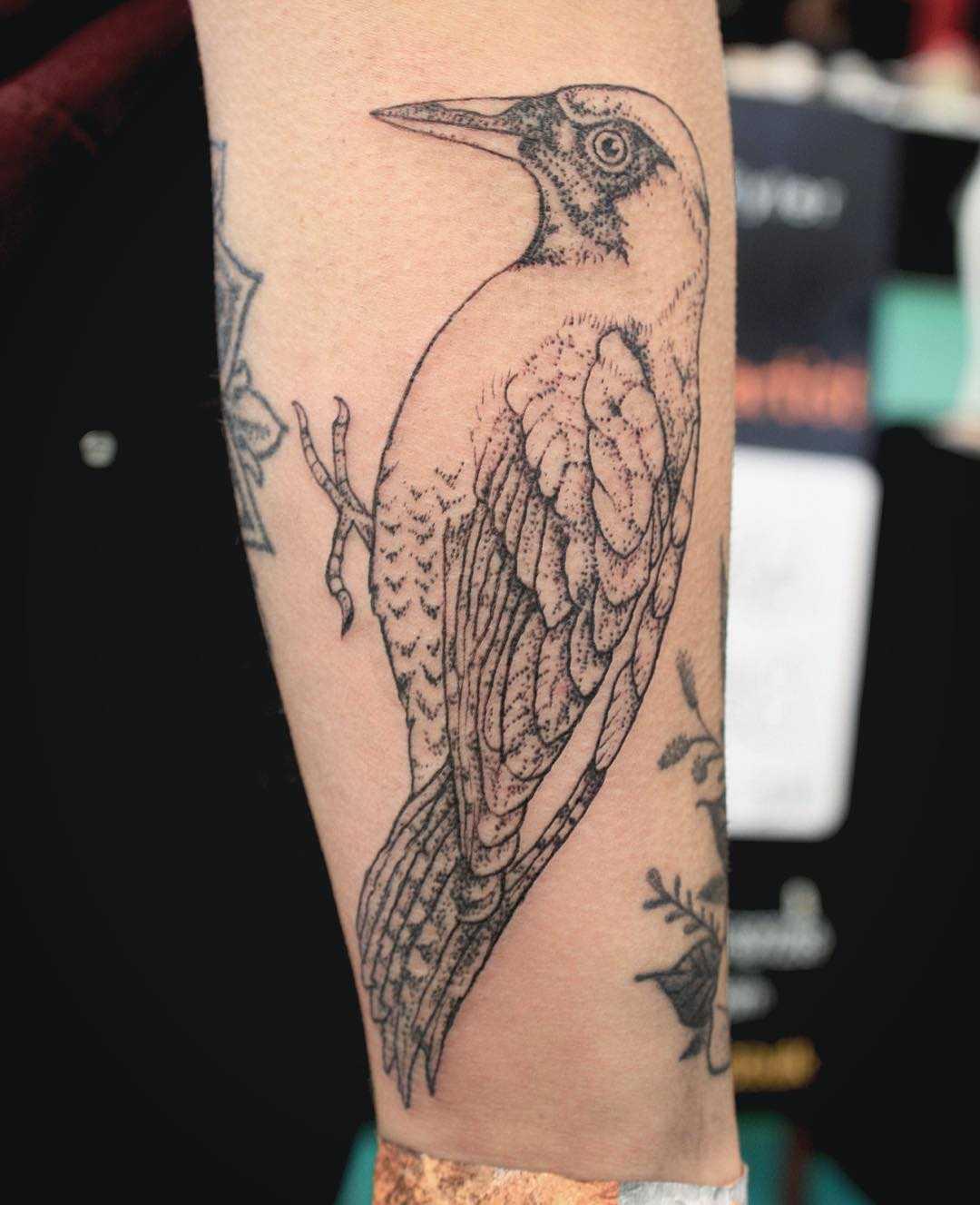 Woodpecker tattoo