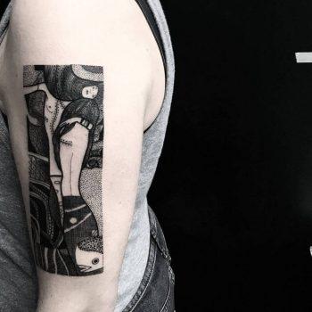 Abstract tattoo by Matteo Nangeroni
