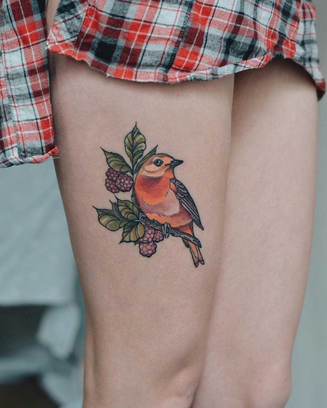 Autumn palette tattoo
