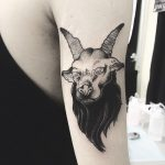 Baphomet tattoo by Vera The Blvck Mamba