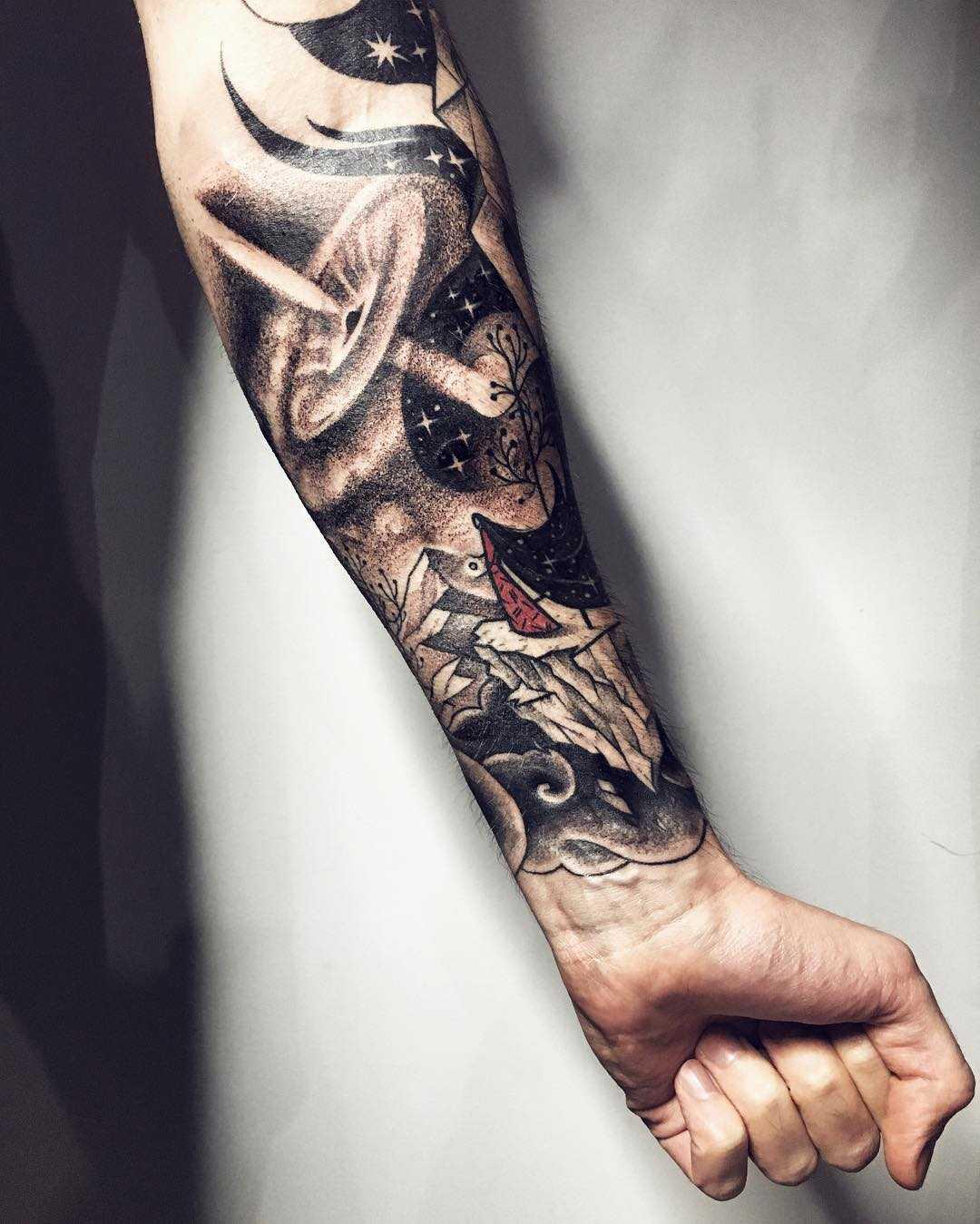 Black hole tattoo by Sasha Tattooing