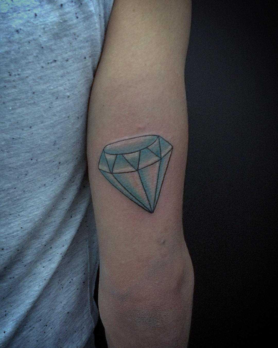 Blueish Diamond Tattoo Tattoogridnet