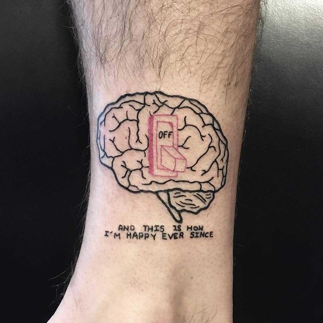 Brain tattoo
