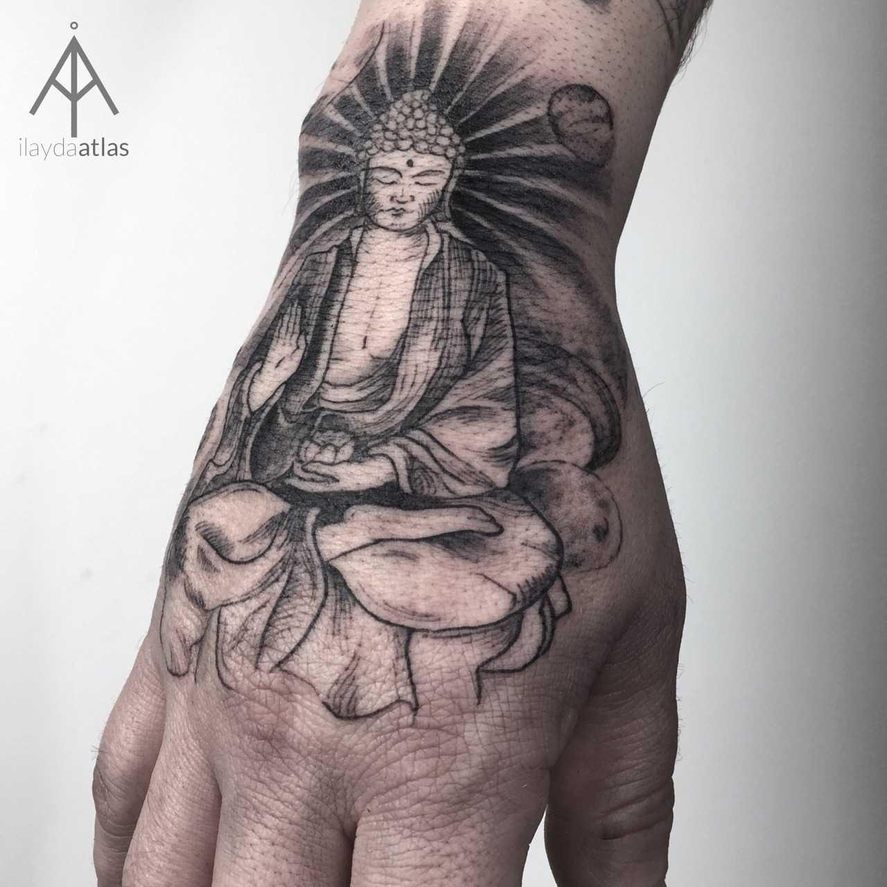 Buddha Tattoo By Ilayda Atlas Tattoogrid Net