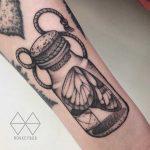 Butterfly in a jar tattoo