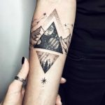 Cosmic triangle tattoo by Sasha Tattooing