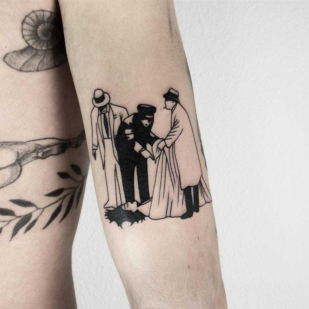 Crime scene tattoo
