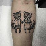 Cute cats tattoo by Warah Shite House